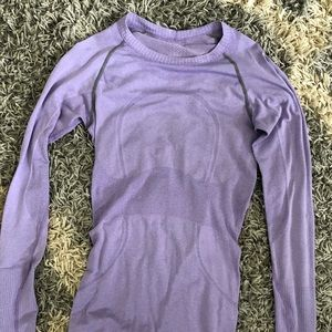 Lululemon Run Swiftly Tech Purple long sleeve 6